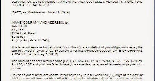 Payment Demand Letter Format