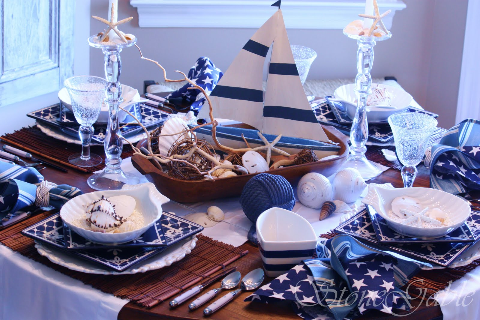 Ship ahoy tablescape stonegable