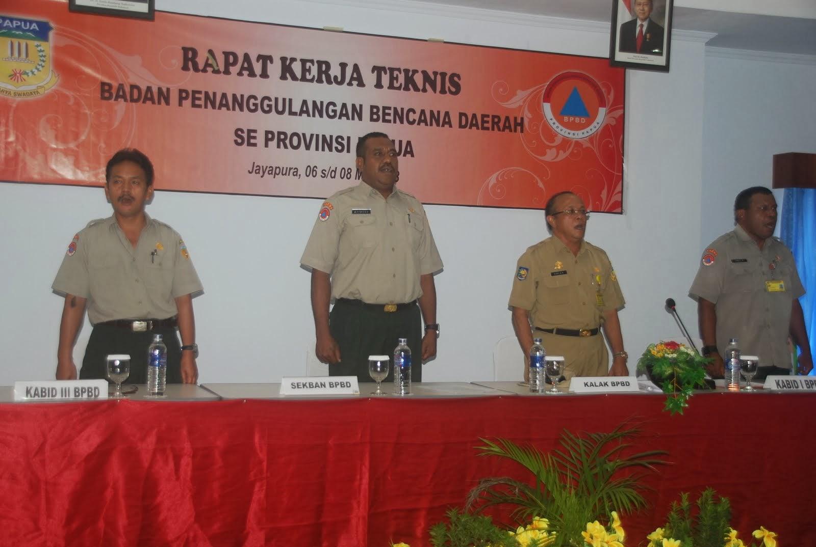 Rakernis BPBD Se-Papua 5 Mey 2013
