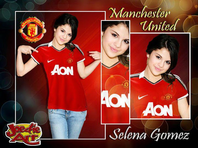 Selena Gomez with Manchester United shirt