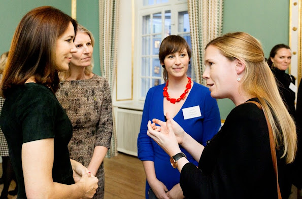 Crown Princess Mary of Denmark hosted the Mary Foundation's Christmas reception 2015 at the Frederick VIII's Palace in Amalienborg