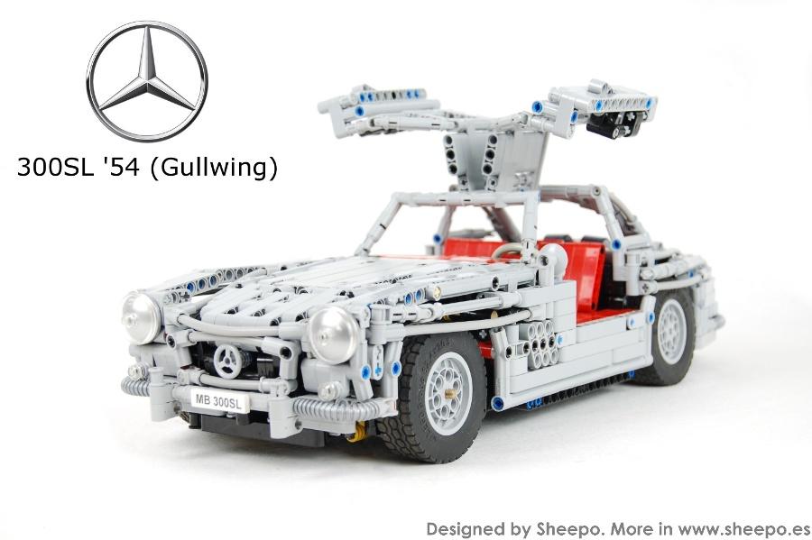 Sheepo 39 s lego technic custom mercedes benz 300sl 39 54 for Lego mercedes benz