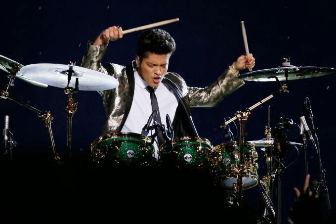 Bruno Mars in Super Bowl XLVIII