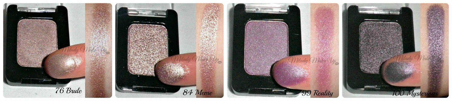 Swatches sombras Chic pierre rené