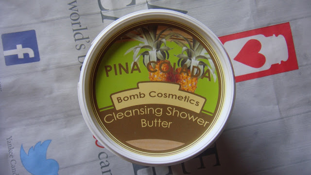Bomb Cosmetics, Cleansing Shower Butter, Pina Colada.