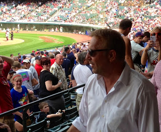 Kevin Costner at the Cleveland Indians May 2013