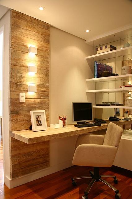 Construindo minha casa clean 10 ideias para montar seu for Escritorios para oficina en casa