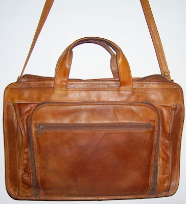 Vintage India Leather Briefcase