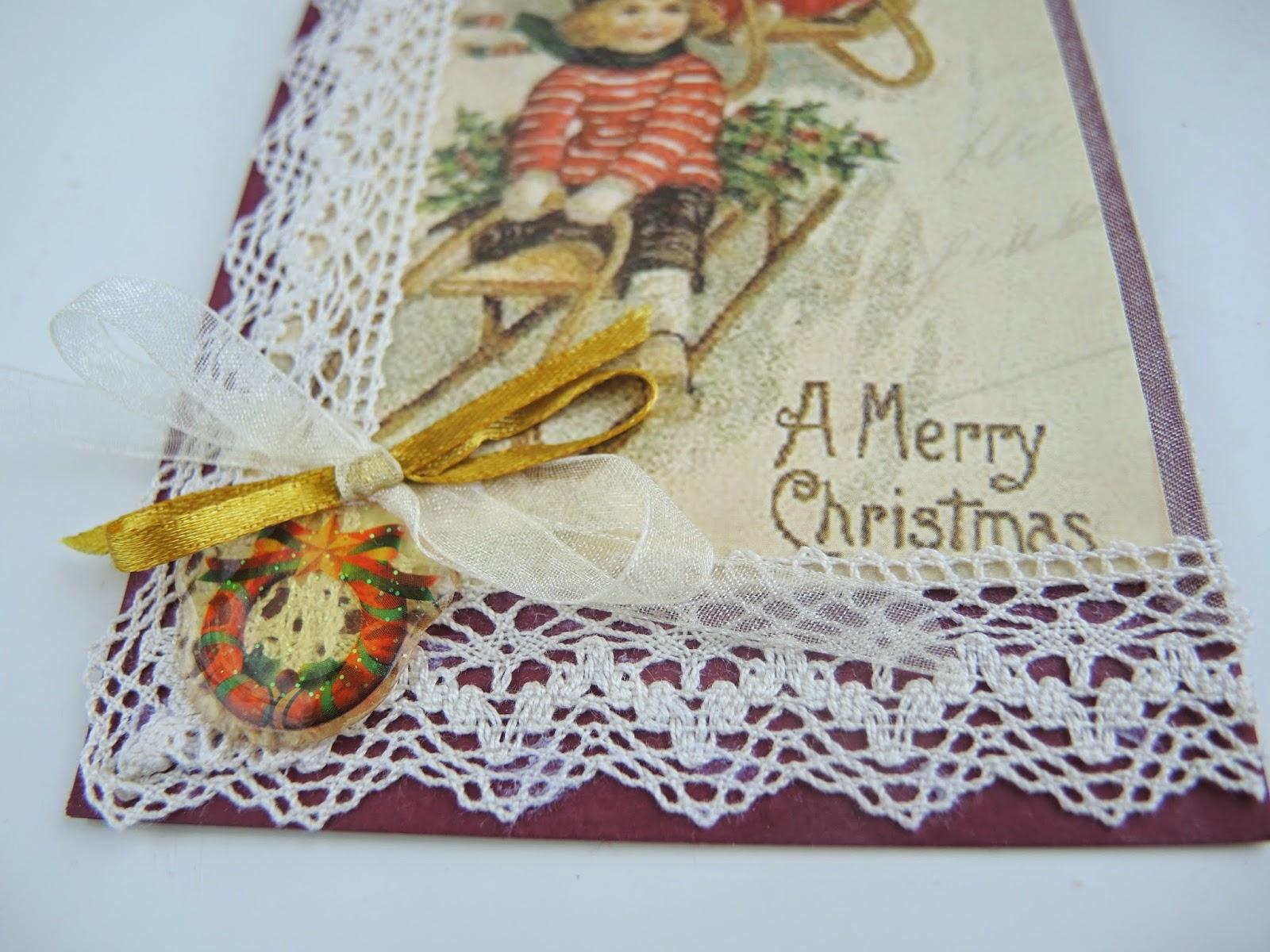винтажные открытки с новым годом, открытки винтаж скрапб своими руками поздравления кружево ленты картон наклейки