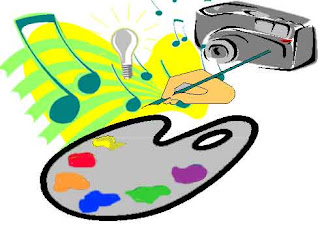 picture of paint pallet and music notes symbolizing creativity