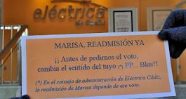 Sigue la lucha solidaria por la readmisión de Marisa. Jueves 14, ante la sede del PP de Cádiz