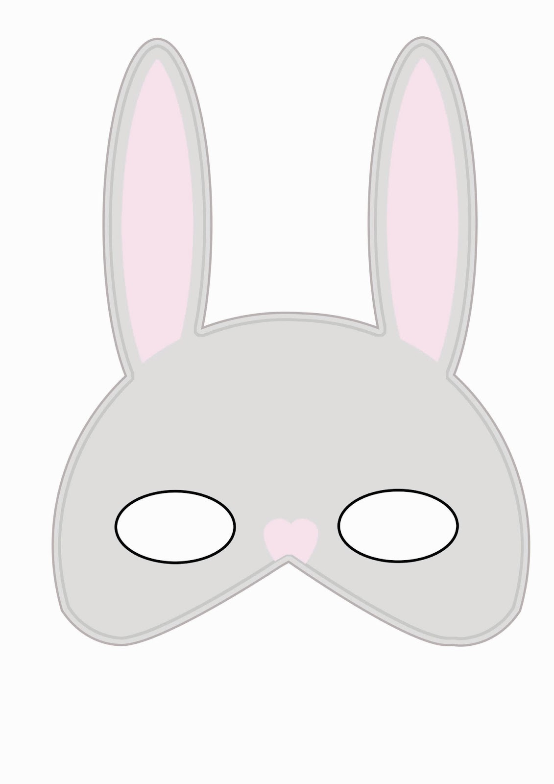 Dynamic image in printable bunny mask