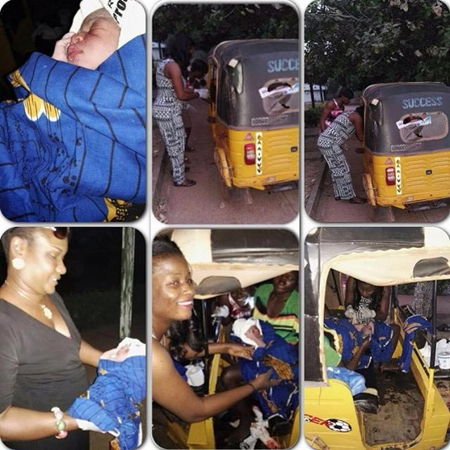 Aww! Woman Safely Delivers Baby Boy Inside Keke Tricycle On New Year's Day (Photos)