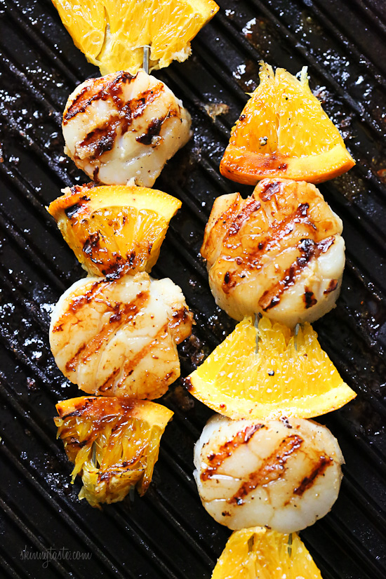 Grilled Scallop and Orange Kebabs with Honey-Ginger Glaze ...