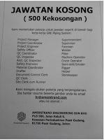 Kekosongan Jawatan Amerstrand Engineering