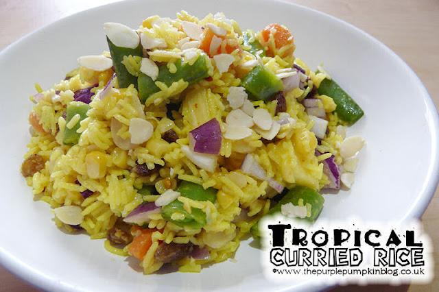 Tropical Curried Rice #Vegan #Vegetarian #Detox