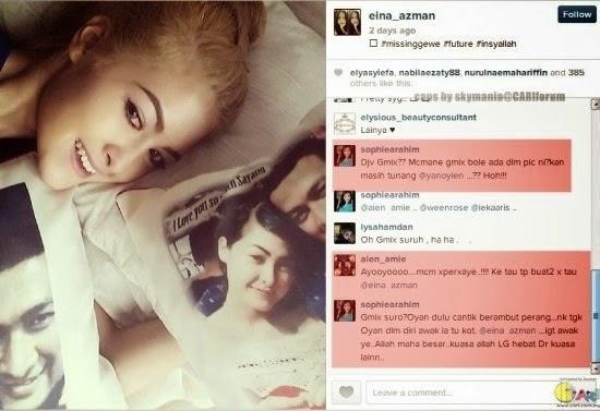 Pelakon kontroversi Eina Azman, hiburan, info, gossip, Wajah sebenar kekasih Eina Azman didakwa tunang orang