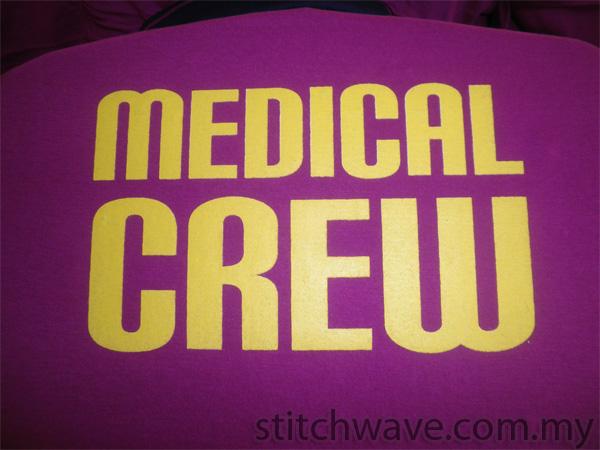 tempah tshirt medical crew 2013 stitchwave