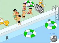 jogo de nadar mergulho na boia