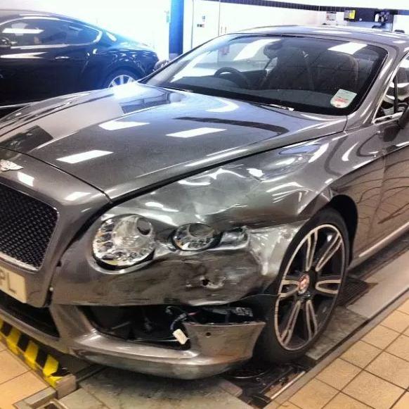 Photo: Week Old Bentley Continental GT V8 Smashed