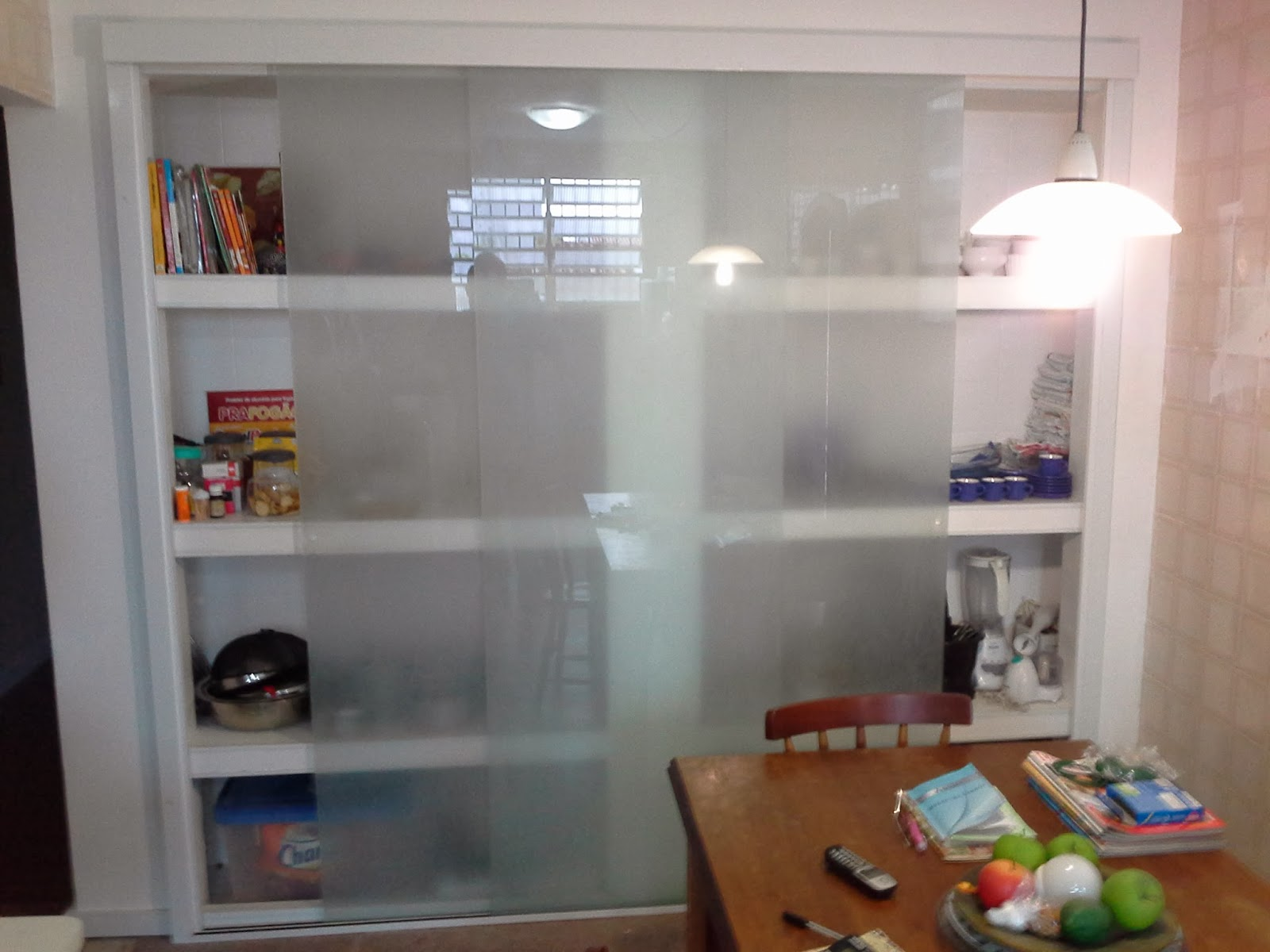 AF4 TEMPER VIDROS: Armario de cozinha vidro jateado sistema versatik #67402A 1600 1200
