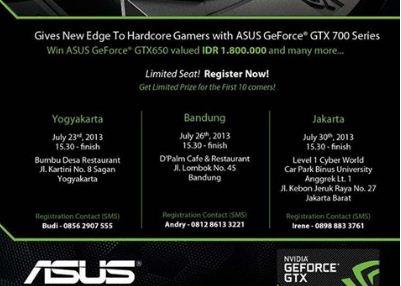 ASUS Component Indonesia adakan ASUS-NVIDIA Gamers Gathering di 3 Kota