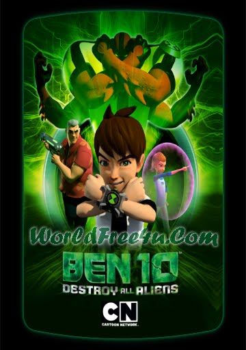 Poster Of Ben 10 Destroy All Aliens (2012) In Hindi English Dual Audio 300MB Compressed Small Size Pc Movie Free Download Only At World4ufree.Org