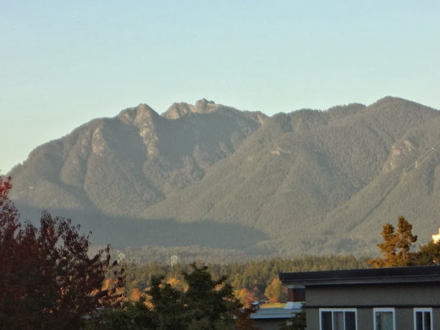 Mountains north of Vancouver