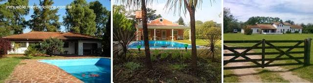 Tres modelos de casas quinta en Buenos Aires