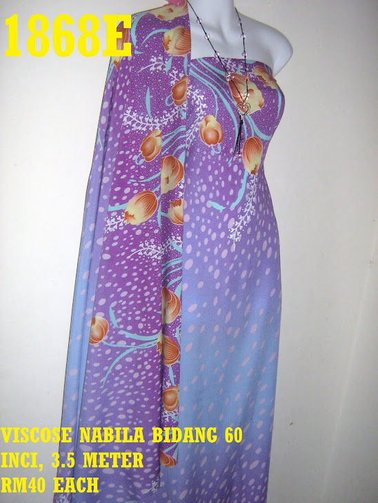 VN 1868E: VISCOSE NABILA BIDANG 60 INCI, 3.5 METER