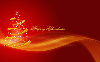 Free Download Red Christmas Art Wallpaper