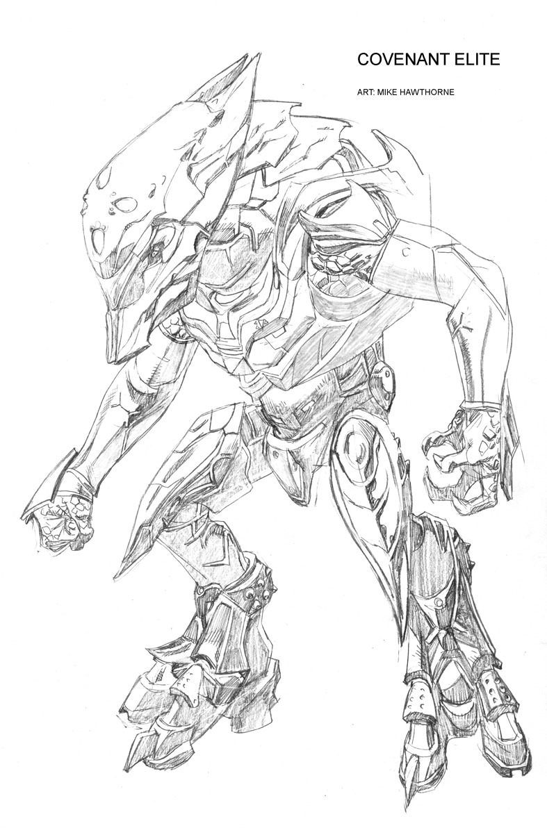 halo 2 covenant coloring pages - photo#26