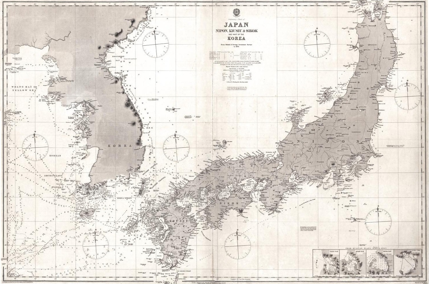 DokdoorTakeshima British Nautical Chart Of Japan And Korea - Japan uk map