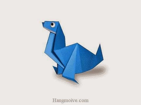Cách gấp, xếp con gấu biển bằng giấy origami - Video hướng dẫn xếp hình sinh vật dưới nước - How to fold a Sea Bear
