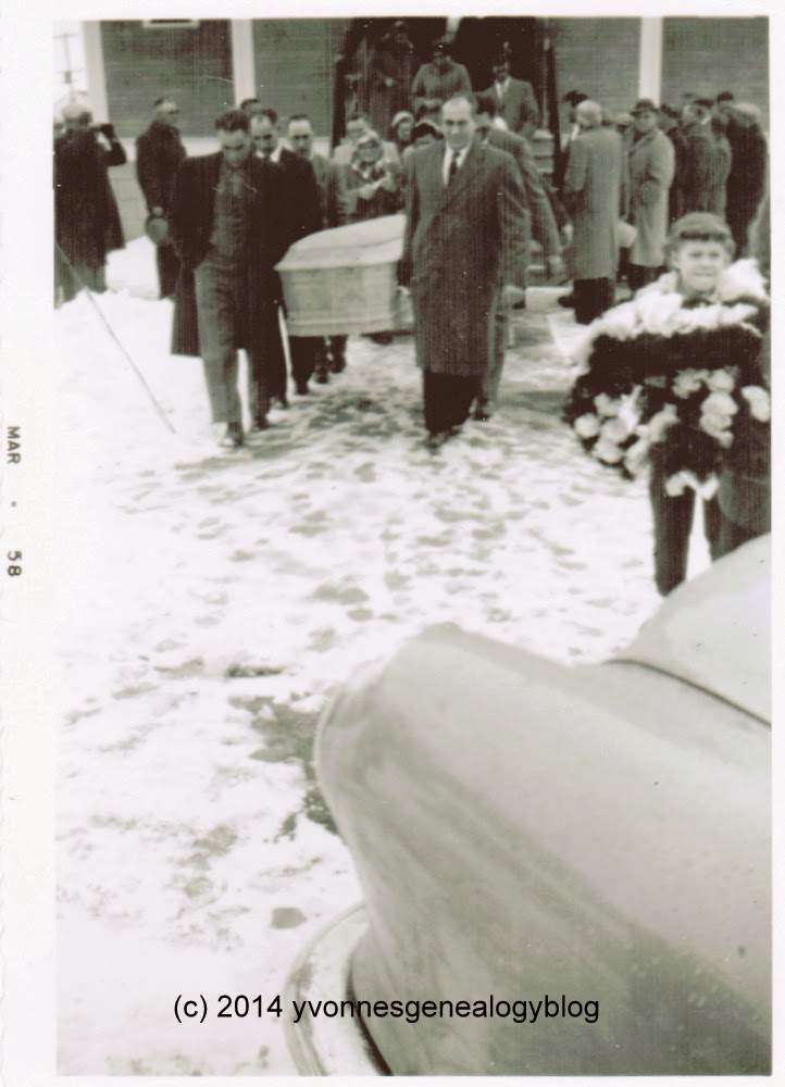 George Cazakoff funeral in 1958