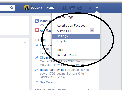 Go to Setting Page of Facebook http://letmeconnect.blogspot.in/