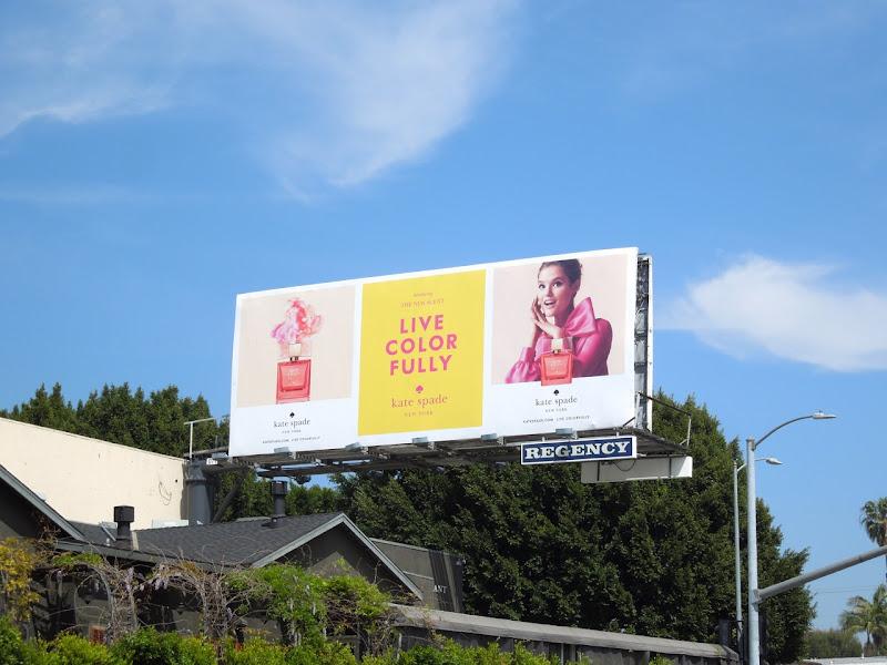 Kate Spade fragrance billboard