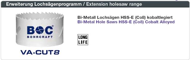 Mũi khoét lỗ  Bi-Metal HSS-E