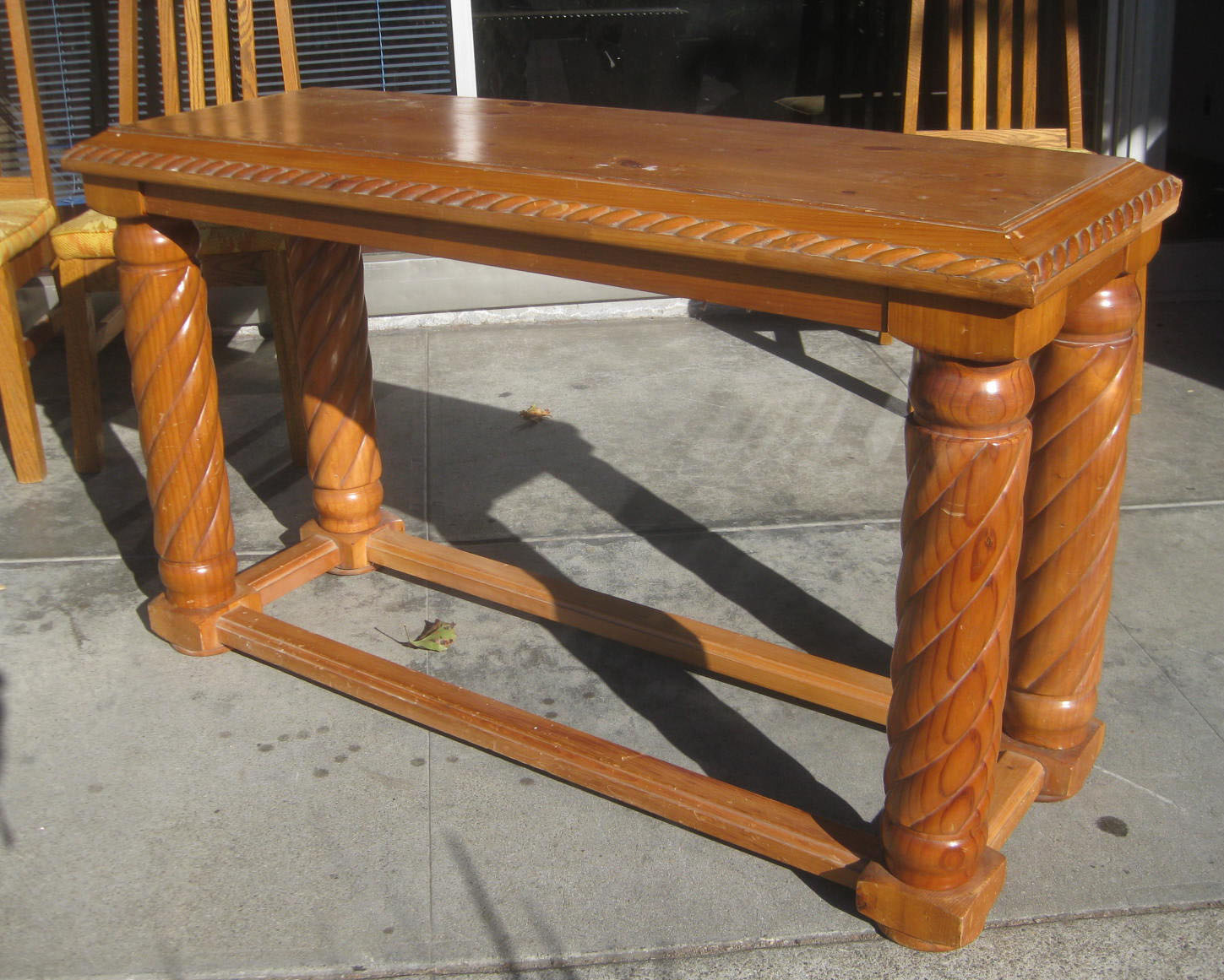 Uhuru furniture collectibles sold oak console table 25 - Table console extensible solde ...