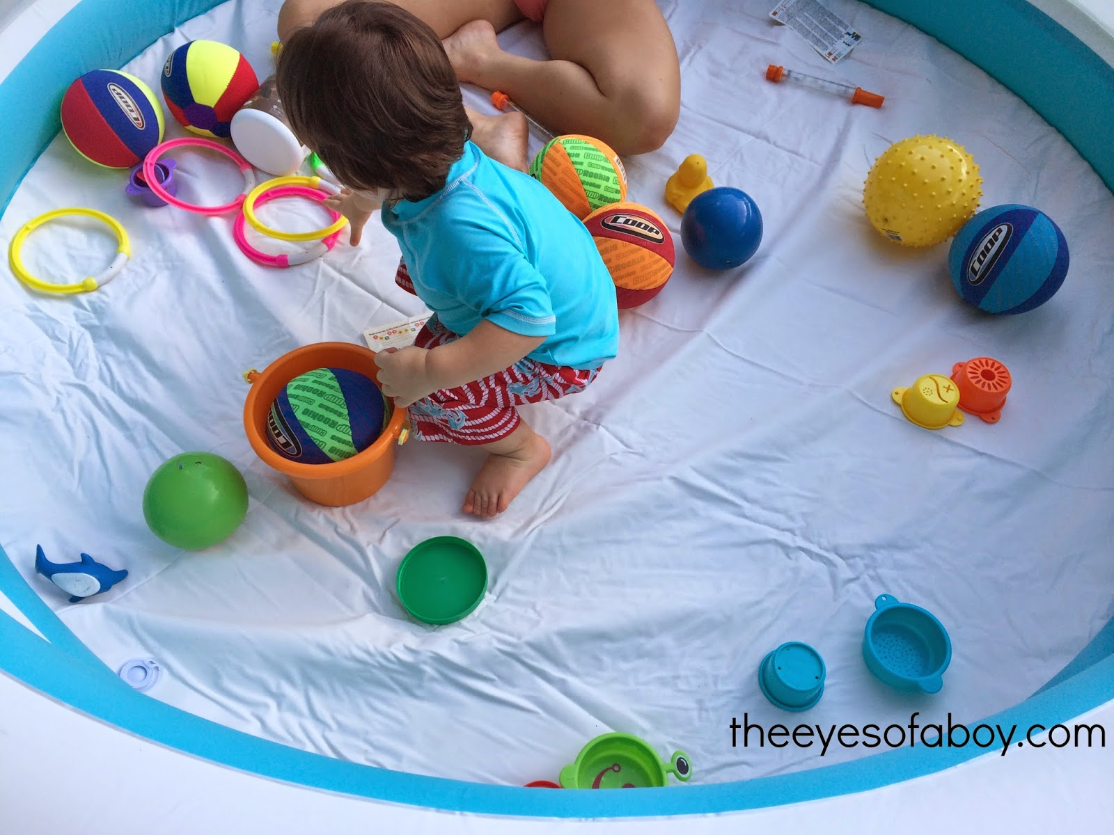 Backyard Sensory Fun for Toddlers The Eyes of a Boy