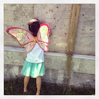 drawing, fairy, butterfly, wings, childhood, summer