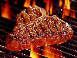 seared medium places steak belongs grill belly cow starving attention