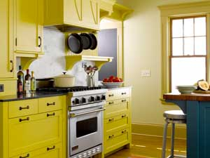 Yellow Cabinets for Kitchen