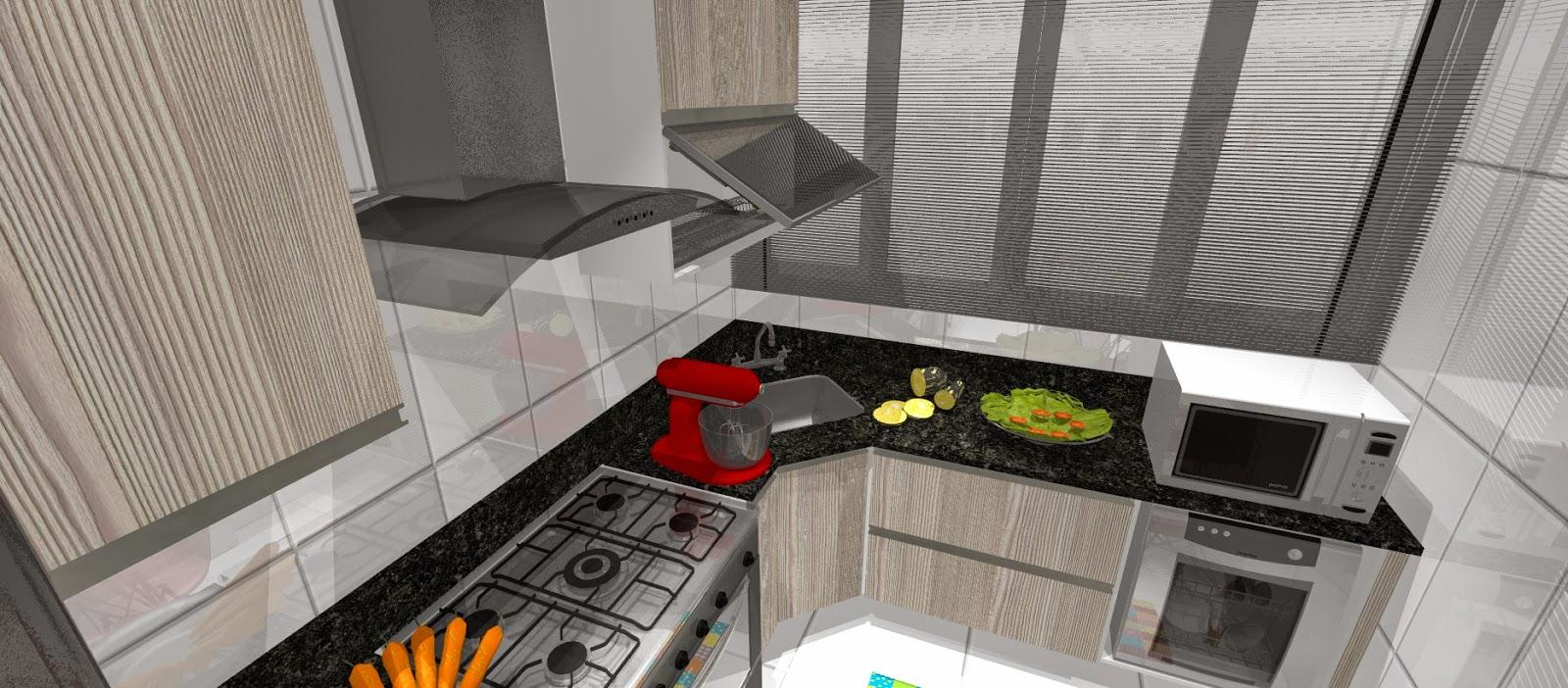 , fogão, coifa, lava-louça, microonas e bancada de refeição