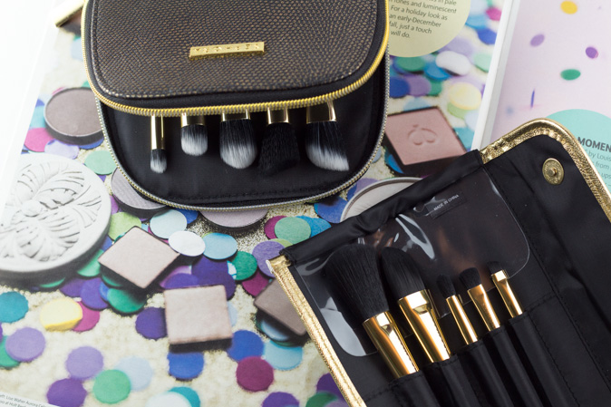 sephora all a glow brush set gold star skinny brush set review