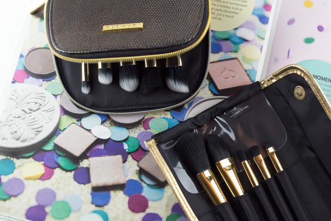 sephora all a glow brush set gold star skinny brush set review