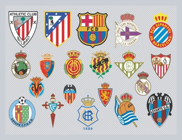 Awesome Spanish Football Team Logos Graphics