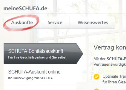 Schufa Seite: how to