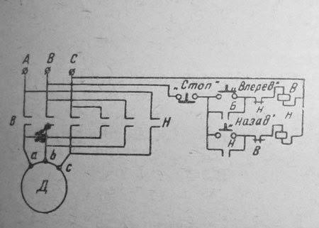Реверс асинхронных двигателей