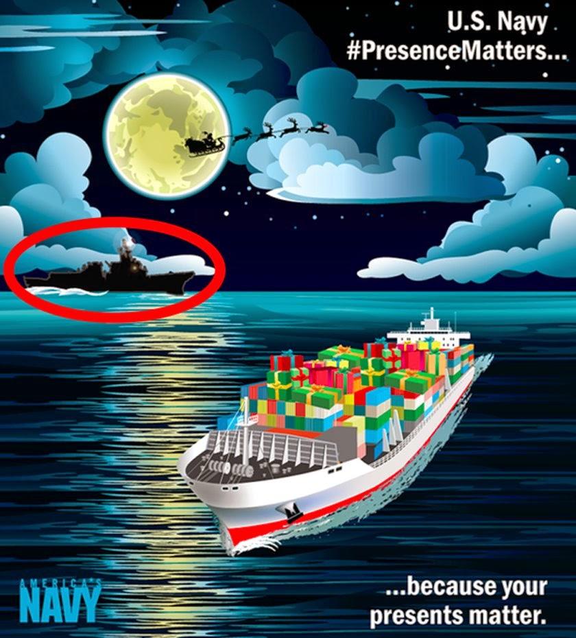 Paul Davis On Crime Christmas Card From The US Navy